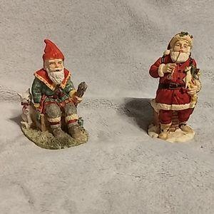2 International Santa Collection Figurines